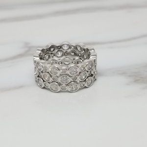 Sterling Silver Stackable Ring with Cubic Zirconia